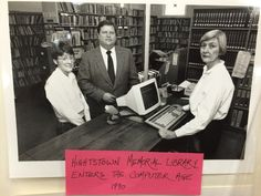 This is a throwback of Hightstown Library's very first computer! #TBT #1990