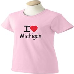 I Love Michigan T-Shirt - www.scottystees.com