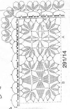 ideas for crochet table runner diagram articles Filet Crochet, Crochet Chart, Crochet Bedspread, Crochet Curtains, Crochet Motif Patterns, Crochet Squares, Crochet Table Runner, Crochet Tablecloth, Diy Crafts Crochet