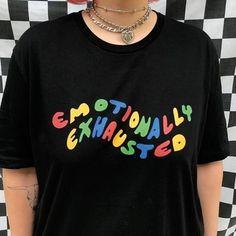 edf5eb55b8e3 Emotionally Exhausted Shirt, tumblr clothing, golf, aesthetic shirts,  tumblr shirts, vintage shirts,