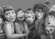 Una linda foto familiar! Los Croods.