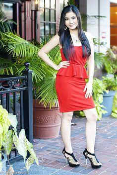 Pretty in a Deb Shops #peplum #dress