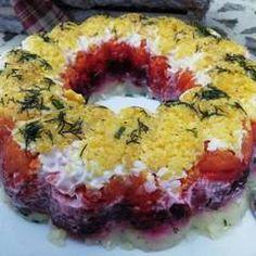 Σαλάτα Χριστουγεννιάτικη σαν τούρτα συνταγή από juligram - Cookpad Doughnut, Sushi, Ethnic Recipes, Desserts, Food, Tailgate Desserts, Deserts, Essen, Postres