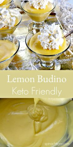 Best Keto Lemon Budino. Low-Carb, Diabetic recipe friendly. Using Swerve for sugar free. from Spinach Tiger