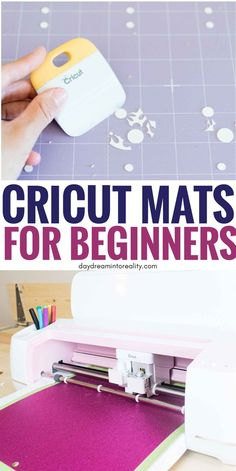 Cricut Mats Differences Guide - Everything you need to know. If you feel overwhelmed with all of the differences between Cricut Mats, what materials you Cricut Help, Cricut Mat, Cricut Craft Room, Cricut Vinyl, Cricut Apps, Vinyl Crafts, Vinyl Projects, Circuit Projects, Fun Crafts
