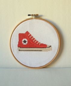 chuck taylor converse all star cross stitch by slipcoveryourlife, $17.00
