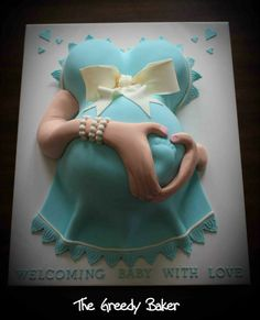 """Has to be one of the cutest Baby """"Belly Cakes"""" ever! - Kate, The Greedy Baker"""