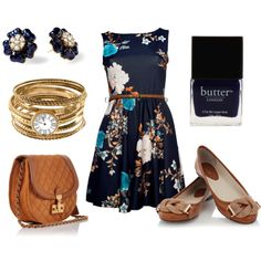I love brown and navy!