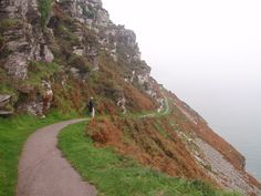 An amazing path with steep drop to sea, Combe Martin, United Kingdom #CombeMartin #NDevon #NorthDevon #Devon