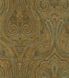 Upholstery Fabric-Waverly Clubroom Paisley Spa