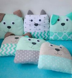 1 million+ Stunning Free Images to Use Anywhere Sewing Stuffed Animals, Stuffed Animal Patterns, Baby Sewing Projects, Sewing For Kids, Kids Pillows, Animal Pillows, Sewing Toys, Sewing Crafts, Fabric Animals