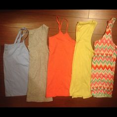 Bundle of 5 XL tank tops. Sweet  Bundle of 5 XL tank tops. They include: rue 21, aerie, 2 no boundaries, and vanity fair. aerie Tops Tank Tops