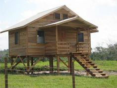 cabin on stilts | Love this small cabin on stilts
