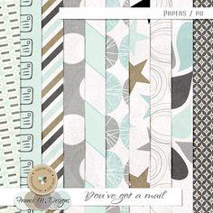 You've Got A Mail - Papers :: France M. Designs :: Shop by Designer :: Memory Scraps