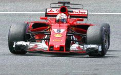Download wallpapers Sebastian Vettel, paintings, Ferrari SF70H, F1, Formula 1, Scuderia Ferrari, art