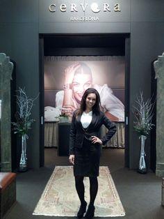 Our hostess for Cervera Barcelona - VicenzaOro January. Vicenza (Italy)