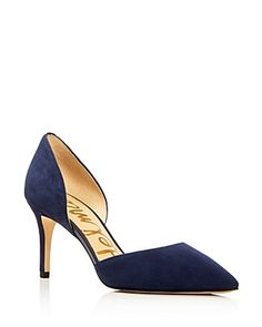 Crafted of rich suede, Sam Edelman's elegant d'Orsay pumps take you from boardroom to wine bar. Hot Shoes, Pump Shoes, Shoe Boots, Pointed Toe Pumps, Stiletto Heels, High Heels, Beautiful Shoes, Wedding Shoes, Me Too Shoes
