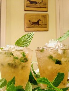 The perfect mint julep recipe, perfect for your next garden party!