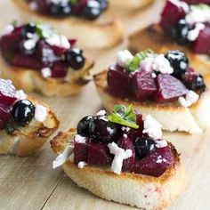 A twist on traditional bruschetta that's perfect for summer entertaining.