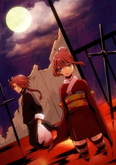 Tags: Anime, Gin Tama, Hair Buns, Alternate Hairstyle, Kagura (Gin Tama), Kamui (Gin Tama), Hand In Pocket
