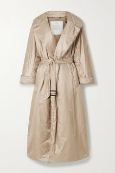 Max Mara's coat is part of the label's innovative 'The Cube' line, where every aspect of design - from fit and feel to how you can travel with it - is carefully considered. Made from water-resistant shell in a loose fit, it's filled with exclusive 'Cameluxe' padding that's sustainably sourced from camel hair leftover from previous designs to ensure as little waste as possible and has two accompanying belts. Stow it in the accompanying tote between seasons.