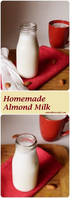 Simple, creamy and quick homemade almond milk recipe; easily customizable. Perfect for drinking, baking, sweet and savory recipes. #homemade #almond #milk #vegan #unsweetened #creamy