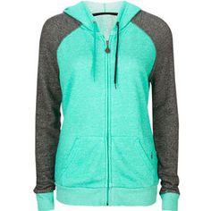 Bright blue & gray zip-up hoodie
