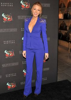 Umm... I would kill for this suit, but would probably pair with nude pumps instead of black.