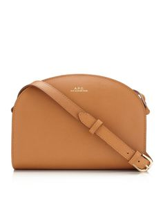 Tan Leather Demi Lune Bag A.P.C.