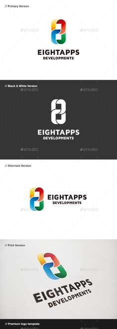 Eight Apps Number 8	  Logo Design Template Vector #logotype Download it here: http://graphicriver.net/item/eight-apps-number-8-logo/9102863?s_rank=114?ref=nexion