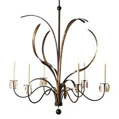 Low Country Originals - Grande marsh grass Chandelier made of steel with sweeping arms mimicks the Marshlands of the Lowcountry. Accepts custom finishes. Available in large sizes.  48w x 60d..  6/40c bulbs