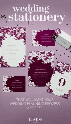 Make a statement even before your wedding begins with beautiful wedding stationery from David's Bridal. Whether you are hosting a destination wedding or a rustic affair, we have the cute invites that will flawlessly sync with your event. Discover our wide selection of vintage wedding invitations, rustic wedding invitations, letterpress wedding invitations, beach wedding invitations and more for every personality.