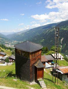 Peter Zumthor, Saint Benedict Chapel (Caplutta Sogn Benedetg), Sumvitg, Switzerland 1985-1988