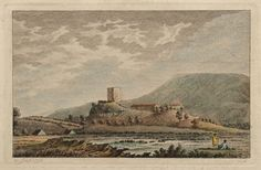 "Clitheroe Castle, Lancashire, 1785 18th Century British School Engraving with hand colouring In a dark cream, conservation grade mount (matt) In very good condition Engraving: 11.5 x 16.8 cm (plate); mount: 25.4 x 20.4 cm (10"" x 8"") Visit our Frames page to view and select a frame for this work"