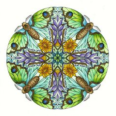 Mandala by CYNTHIA EMERLYE  Harold Suttles Colorist Mandala Book, Mandala Art, Adult Coloring Pages, Coloring Books, Colouring, Watercolor Mandala, Planets Wallpaper, Mandala Stencils, Circle Art
