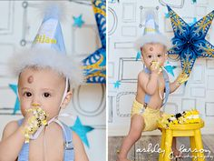 Cake smash photo session. Baby's 1st birthday photoshoot ideas. Party ♡ Child & Family Photography