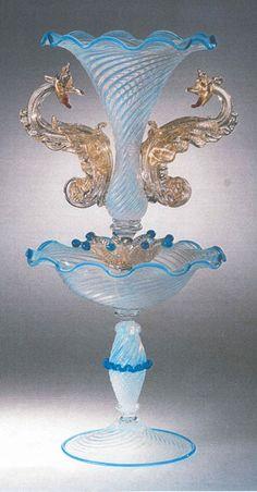 Murano Italian Glass Decor Lights, Lighting, Lamps and more - Murano Glass Venetian Chalice Aquos Dragon
