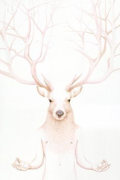 "I like the deer but I also like the ""meditating"" body. have to draw that- it's a must"