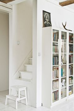 Stair Step Bookcase stairs are great for coming and going, but these stair-side