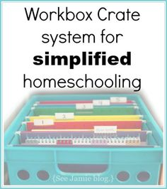 Since we started using a simple workbox crate system in our homeschool, our days are so much better!