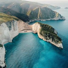 """Navagio Beach, an exposed cove on the coast of Zakynthos, is also known as """"Shipwreck Beach"""" as it is home to the wreck of the smugglers'…"""