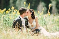 i love how she put her hair in a simple ponytail for these pictures. // Yosemite wedding