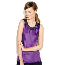 mark. Be Royal Blouse- As this year's hottest color, ORCHID has serious star quality: it makes you look radiant! Posh pleated satin in a very enchanting orchid hue gets glammed-up with a glimmering faux-gemstone neckline—now that's the royal treatment! Regularly $36.00, buy Avon Fashion online at http://eseagren.avonrepresentative.com