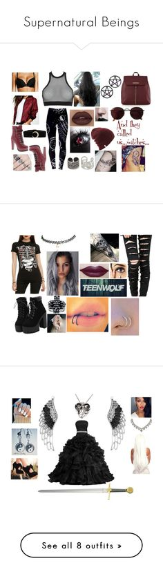 """""""Supernatural Beings"""" by alexblackwood on Polyvore featuring Red Herring, Dsquared2, John Lewis, Boohoo, Luichiny, Marina Fini, NOVICA, Ray-Ban, Wet Seal and Mia Sarine"""