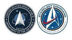 Star Trek fans are not pleased about the new US Space Force logo. President Trump reveals a new logo that looks a lot like the beloved Starfleet Command logo. George Takei and Mark Hamill react. Star Trek Symbol, Star Trek Logo, Star Trek Tv, New Star Trek, Star Trek Series, Star Wars, Star Trek Starfleet Command, Air Force Space Command, Star Trek Actors