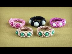 Wavy Ring Tutorial in Vintage Style by Macrame School | DIY - YouTube
