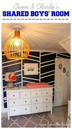 I LOVE THIS! Just adorable shared Boys Bedroom Makeover from View From The Fridge!
