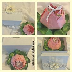 Flor de Loto para entrega de anillos !! #flordeloto #ceremonia #origami #byPlanetaResina #boda #anillos #hechoconamor #handmade