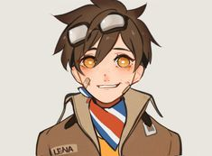 little pilot tracer by BJMAKI on DeviantArt Overwatch Video Game, Overwatch Comic, Overwatch Fan Art, Anime Style, Female Character Design, Character Art, Overwatch Females, Overwatch Wallpapers, Held