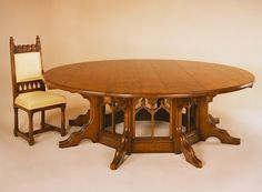 Octagonal Dining Table Pugin Design